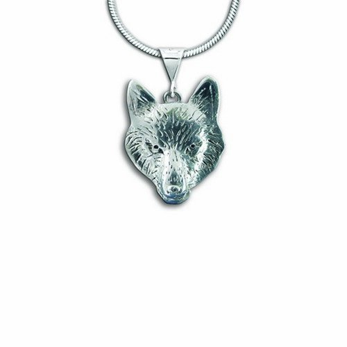 Sterling Silver Wolf Pendant by The Magic Zoo