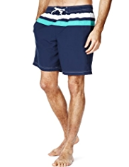 Blue Harbour Cut & Sew Quick Dry Striped Swim Shorts
