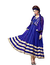 d38bba882d Blissta Blue Brasso Fancy Long Partywear Gown available at Amazon for Rs .1099