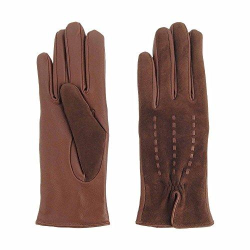 Nubuck e guanti in pelle liscia Misure: 70 Colore: MARRONE