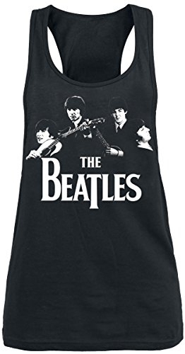 The Beatles Band Top donna nero M