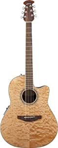 Ovation CS24P 4Q Acoustic Electric Guitar, Natural Quilt Maple CS24P 4Q CS24P4Q Acoustic Electric AcousticElectric available at Amazon for Rs.69289