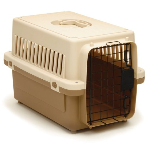 """Precision Pet 0100-X Cargo Kennel In Tan Size: X-Small (13"""" X 14"""" X 20"""") front-433992"""