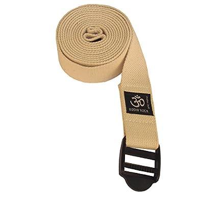 ASANA Belt, Yogagurt mit Plastikschnalle, Yoga Hilfsmittel, 100% Baumwolle, 2,5 m x 38 mm