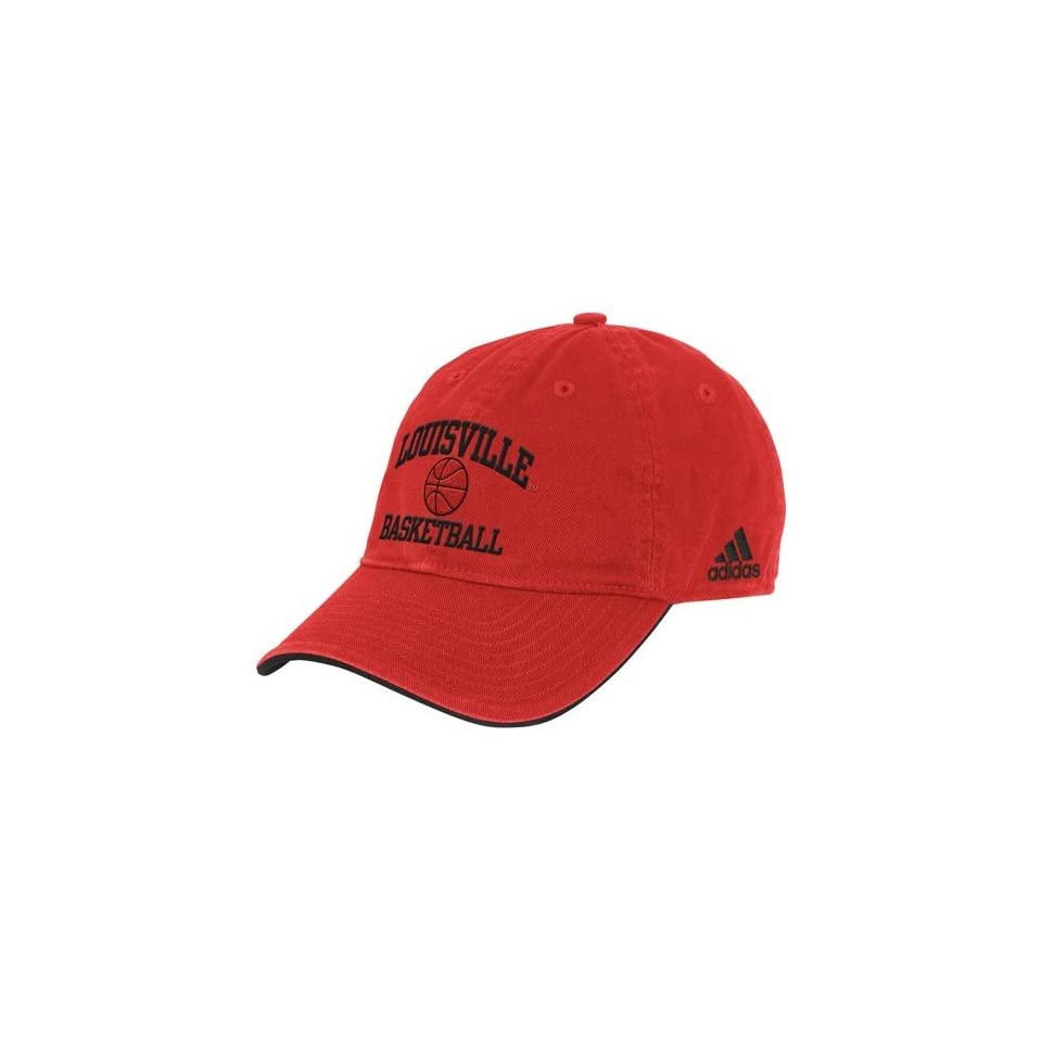 adidas Louisville Cardinals Red Collegiate Basketball Adjustable Hat