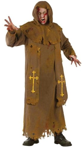 Morris Costumes Zombie Monk Adult back-905450