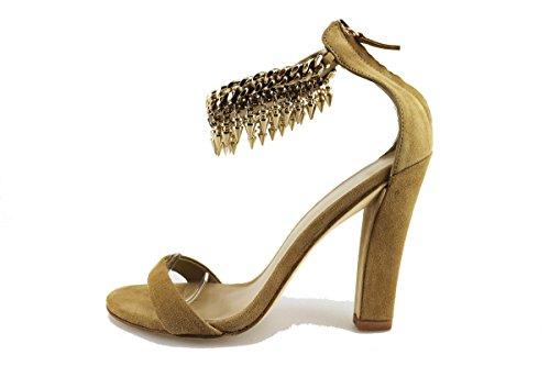 LOLA CRUZ sandali donna nero beige camoscio (38 EU, Beige)