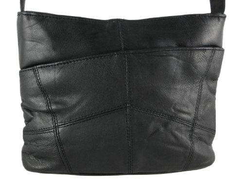 Super Soft Black Nappa Leather Ladies Shoulder Bag