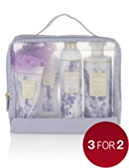 Floral Collection Lavender Large Toiletry Bag