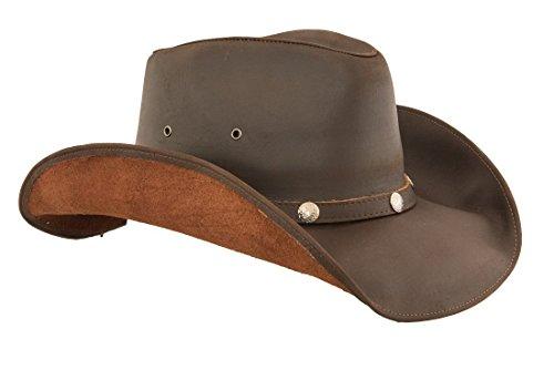 7397adef455f4 Lucky Trails Men s Dakota Shapeable Leather Western Cowboy Hat