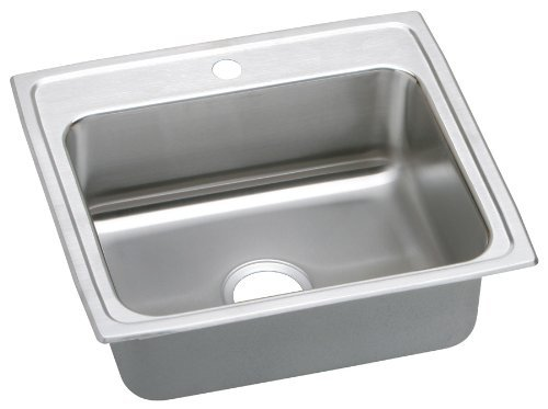 Elkao|#Elkay LRQ25210 18 Gauge Stainless Steel 25 Inch x 21.25 Inch x 7.875 Inch single Bowl Top Mount Quick-Clip Kitchen Sink,