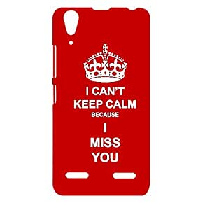 Skin4gadgets I CAN'T KEEP CALM BECAUSE I MISS YOU - Colour - Red Phone Designer CASE for LENOVO A6000 PLUS