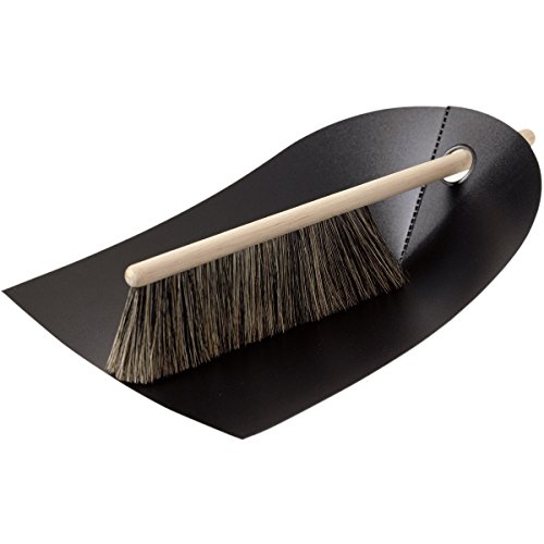 Dustpan and Broom in Black