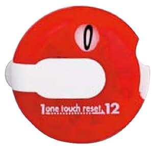 Golf Schlag Zähler, One Touch Golf Scorer von DAIYA, mit Handschuh Clip, leicht und kompakt, Rot