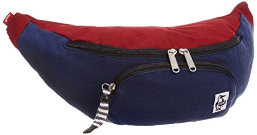 [チャムス] CHUMS Fanny Pack Sweat Nylon CH60-0685 H-Navy/Red Henna (H-Navy/Red Henna)