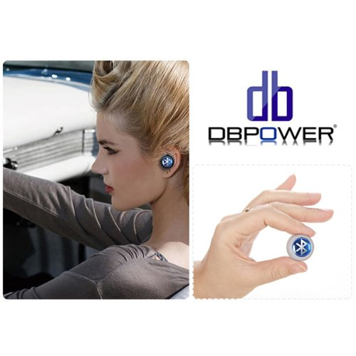 Dbpower Mini White Wireless Stereo Bluetooth Bt Headset Headphone Earphone Earpiece Earbud With Microphone Mic, Noise Cancellation, Compatible With Apple Iphone 5/5S/5C, Iphone 4/4S, Ipad 1/2/3, New Ipad, Ipod And Samsung Galaxy S2, S3, S4, Galaxy Note 1/