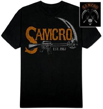 Sons Of Anarchy Vintage Samcro Sickle T-shirt (Large, Black)