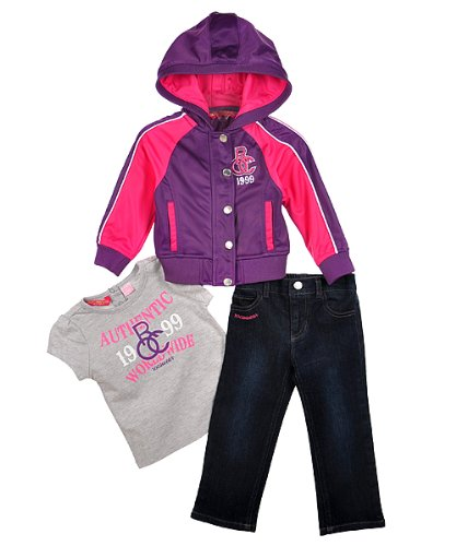 "Rocawear ""Worldwide Sport"" 3-Piece Outfit (Sizes 12M - 24M) - hyper pink, 24 months"