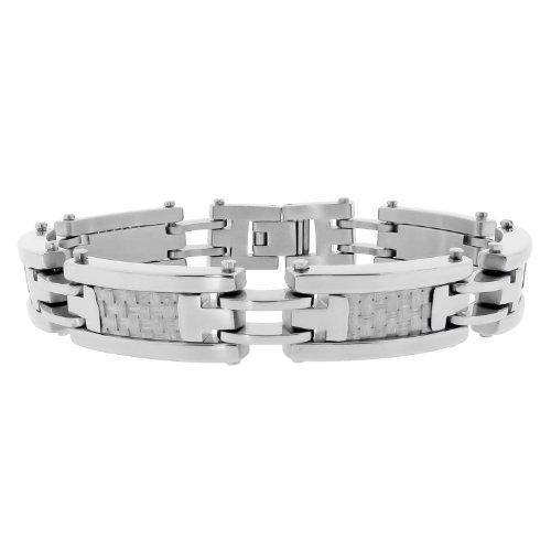 Men's Stainless Steel Grey Bracelet