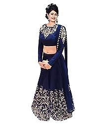 Mandani Fashion women's Faux Georgette Party Wear Unstitched dress material(SF226_Blue color)