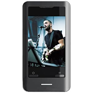 Coby 8 GB 2.8-Inch Video MP3 Player with Touchscreen, FM, Stereo Speakers and MiniSD Card Slot (Black)