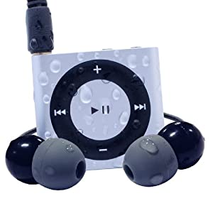 Waterfi 100% Waterproof iPod Shuffle Swim Kit with Dual Layer Waterproof/Shockproof Protection (Silver)