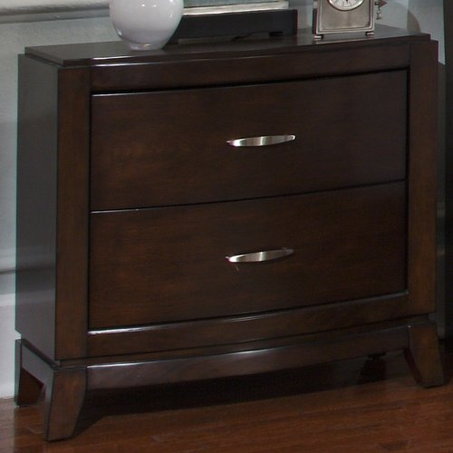 Liberty Avalon 2 Drawer Nightstand - Dark Truffle, Wood front-876773