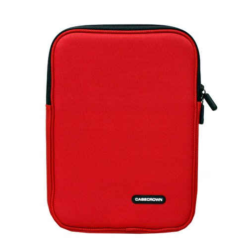 CaseCrown Double Memory Foam Neoprene Netbook Sleeve Case (Red) for the Apple iPad