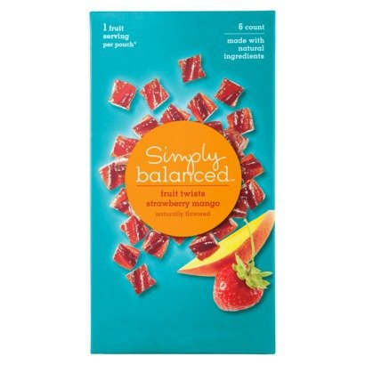 Simply Balanced Fruit Twists - Strawberry Mango (6 Count) front-1009240
