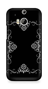Amez designer printed 3d premium high quality back case cover for HTC One M8 (Abstract Dark 33)