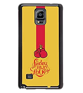 Printvisa 2D Printed Love Designer back case cover for Samsung GalaxySamsung Galaxy Note4 N/910F/N910H - D4625