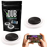 iDub Mobile Gaming Joystick Pack of 2 | Elite Black Video Game Controller for Shooting, Battle Royale, Fighting and Survival Games | Cell Phone Accessories for Tablets, iOS and Android Smartphones (Color: 1 Pack)