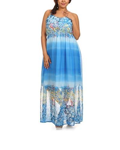 C.O.C. Plus Women's Floral Print Maxi Dress
