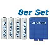8 pièces Panasonic eneloop pile AA BK-3MCCE avec boîte de rangement bleu de eneloop....