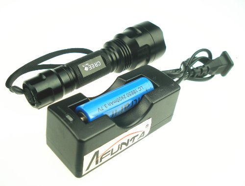 Afunta Xml C8-T6 5-Mode Cree Led 1000 Lumen Flashlight(With Battery And Charger)