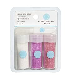 Martha Stewart Crafts Glitter, Iridescent, Pink, 3-Pack