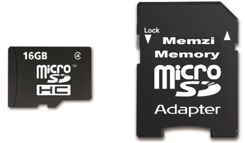 Memzi Micro-SDHC-Speicherkarte (16 GB, Class 4 Micro SDHC Speicherkarte mit SD-Adapter für Sony Camcorder HDR-PJ Series Digital Camcorder