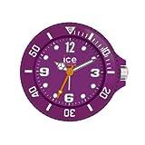 Ice-Clock 90 mm Travel Alarm Clock, Purple