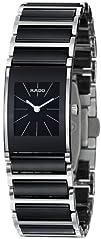 Rado Womens R20786152 Integral Black Dial Watch