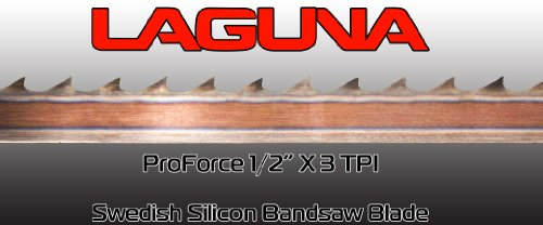 "1/"" X 3 TPI X 131 1//2/"" BandSaw Blade Laguna Tools Proforce Wood Band Saw Blade"