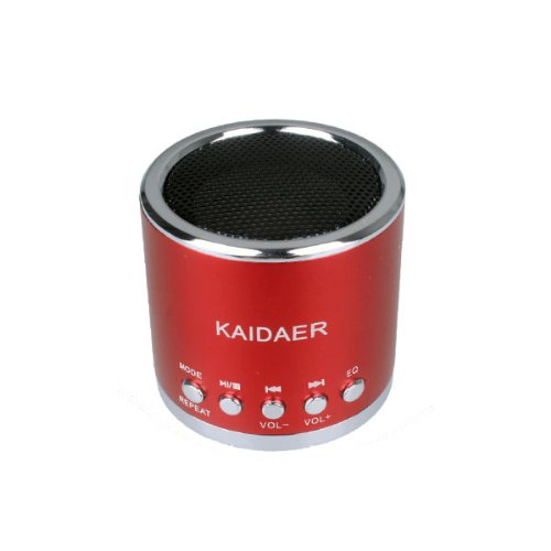 Red Kaidaer MN-01 Mini Rechargeable Portable Speaker Audio Amplifier for Laptop MP3 CD PC Ipod Iphone PSP