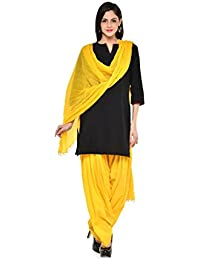 Kismat Collection Women's Pure Cotton Printed Patiala & Duppta Sets (Free Size) - B01L6SG9NQ