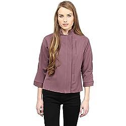 RARE Purple Solid 3/4 Sleeve Women's Jacket