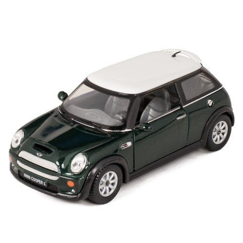 Green Mini Cooper S Die-Cast Collectible Toy Vehicle