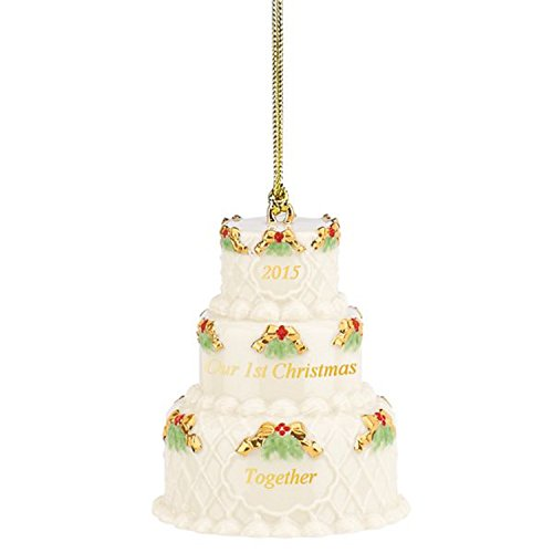 Lenox 2015 Wedding Cake Ornament Our 1st First Christmas Together Limited Edition