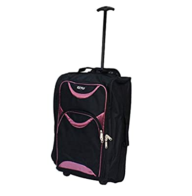 Lightweight Wheeled Cabin Travel Bag Suitcase Case Hand Luggage Trolley Holdall Chancery Cabin Bag