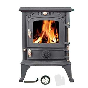 FoxHunter NEW Cast Iron Log Burner MultiFuel Wood Burning 5.5 kw Stove WoodBurner JA013S