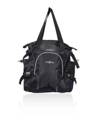 Obersee Innsbruck Diaper Bag Tote with Cooler, Black/Black