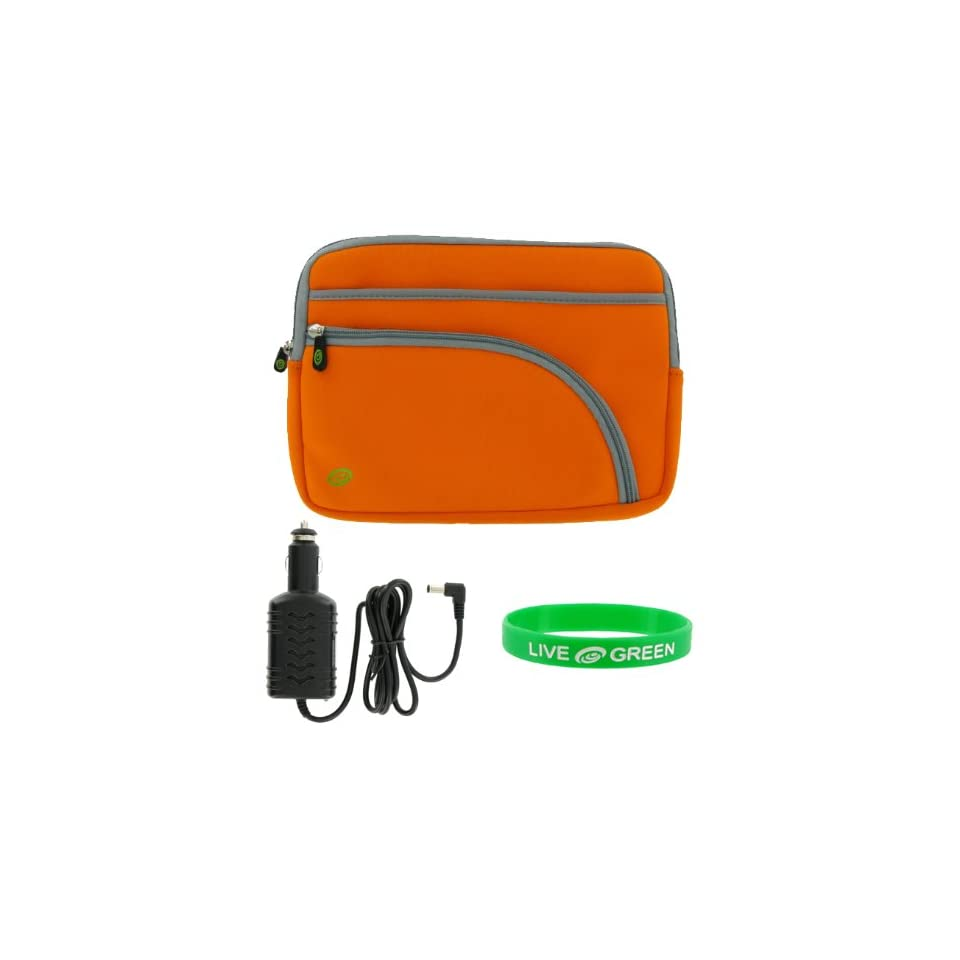 Dell Inspiron Mini 9 Inch 8.9 Inch Notebook Sleeve Case and Car Charger