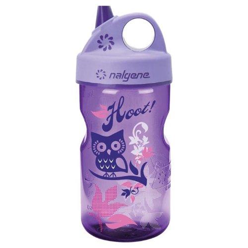 Nalgene Grip-N-Gulp Water Bottle (Purple, 12-Ounce)